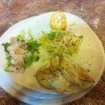 insalata di coniglio e tartufo, insalata con cupole e tartufo, funghi porcini crudi con tartufo
