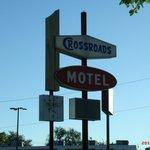 Iola, KS, Crossroad Motel sign