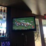 College football in the bar