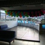 Área de festas e bar na cobertura