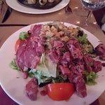 Salad portion big