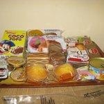 Vassoio di prodotti per la colazione