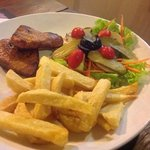 My Pork Fillet- chips aregood, meat ok, salad blech