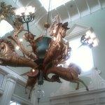Boardwalk Inn lobby sculpture