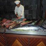 Barracuda, gouper and tuna for dinner, yummy