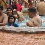 familiy enjoying the specially designed pool