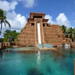 Mayan Temple -waterslide & tube ride through shark pool!