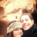 With my husband up in Puye cliff!