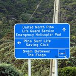 turn left to Piha Surf Life to get to Black Sands Lodge