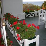Flowers on porch