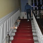 Candle lit staircase