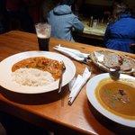 notre déjeuner (les plats sont copieux, les assiettes de la photo sont creuses ;-))