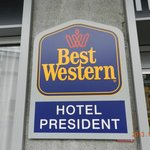 Sign in front of the hotel