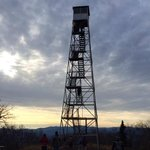 The fire tower at the top (open to public)