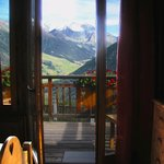 The view from the corner room at Hotel Alpina. SEP13