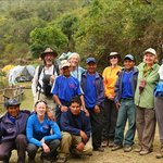 Hikers and Apu Andino workers.