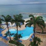 View of pool & ocean from room B711