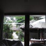 vue de notre lit