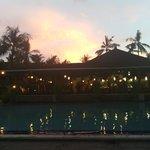 закат в отеле