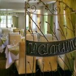 The lovely wrought iron work by Michel Duchemin is the entrance to the restaurant,
