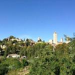 Vista do apartamento para San Gimignano
