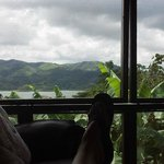 Sipping tequila coffee & cream from Jungle Room living area.