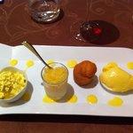 Dessert Safran with Granita de Coteau de Layon