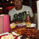 Cena antes de salir de Aruba