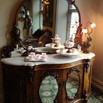 Beautiful antiques on the landing, in the halls etc.