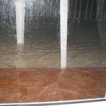 Torrential rain, water in the room
