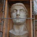 colossal head of Constantine statue