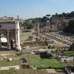 view of the Forum from the Capitoline Museum