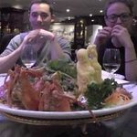 Lobster on noodles dish.