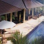uitzicht vanuit een villa