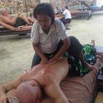 massage op het prive zonne terras
