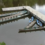 Dock with Canoes