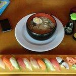 Sushi Combo and Pork Broth Ramen