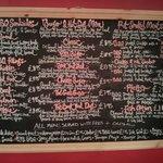 The menu board... Mmmmm!