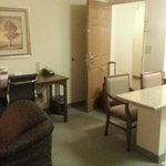 Room 210 - desk and kitchen island