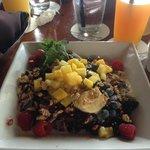 Fruit crepes for breakfast