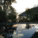 Sunset overlooking the plunge pool