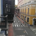 look down the street from balcony