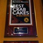 Crab Cake Award (one of many)