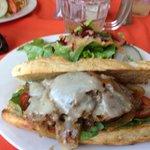 An Italian style pork sandwich... Yum