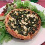 Spinach and Goat Cheese Tartlette