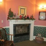 Decorated for Christmas. Our suite. The Byron Room
