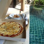 Pizza delivered to our pool