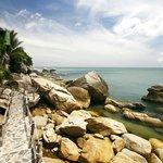 rocks walkway