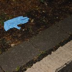 Used Cabin Cleaners Glove left on pathway the entire week
