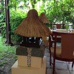 outdoor lamp of restaurant